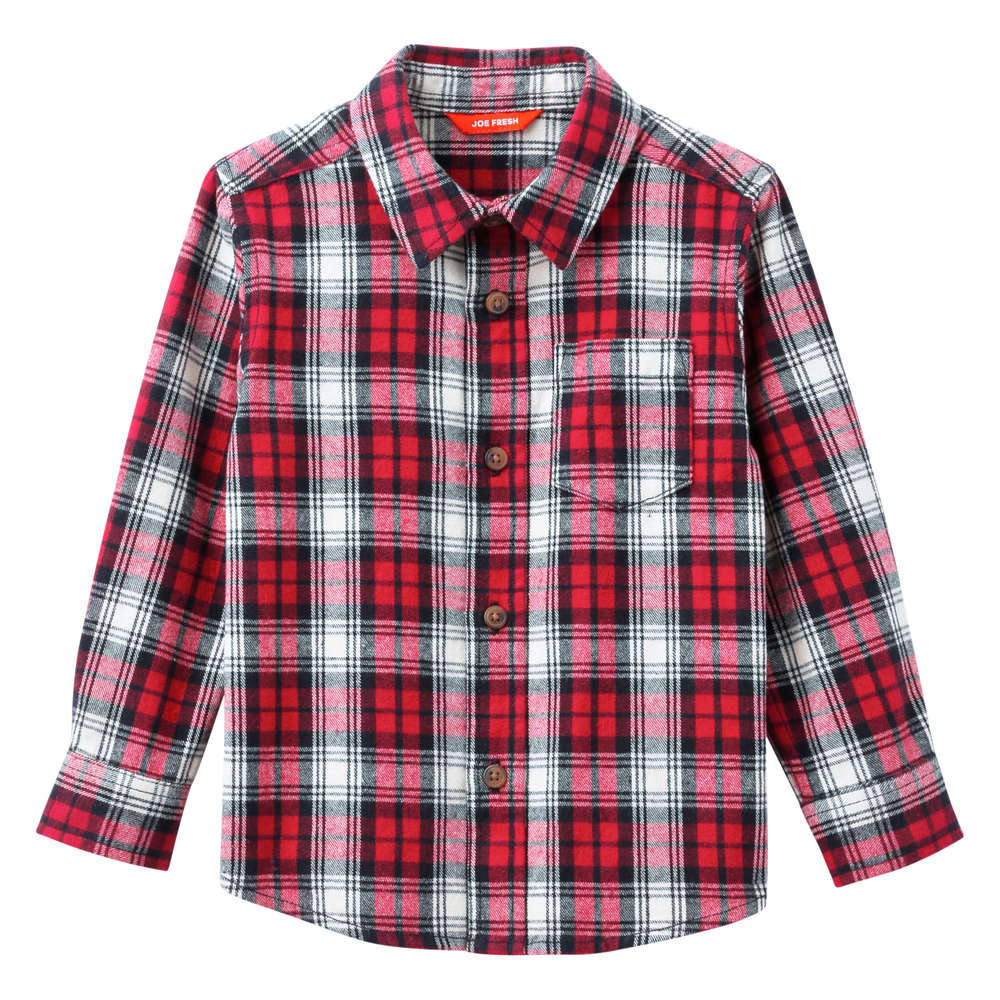 Toddler Boys Essential Flannel Shirt In Red From Joe Fresh