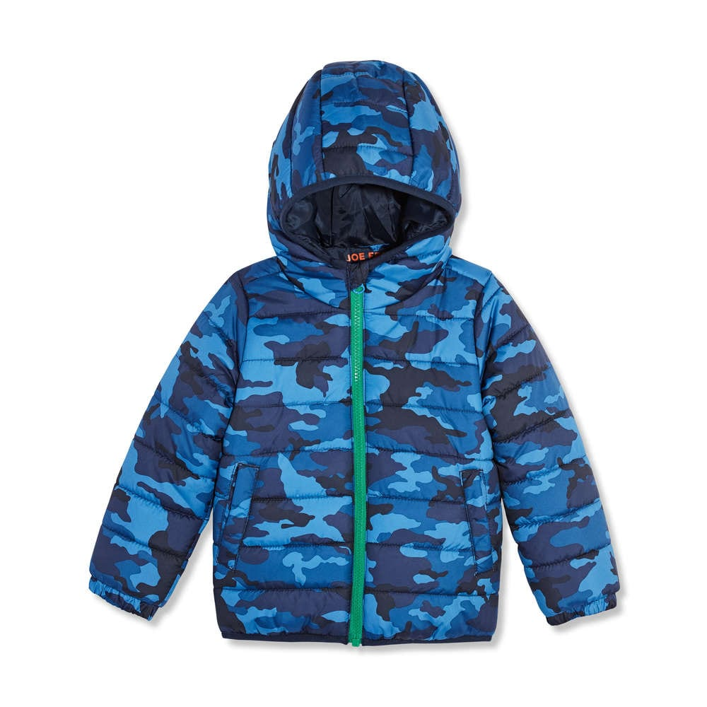 c70d59a3e Toddler Boys  Hooded Print Puffer Jacket in Blue from Joe Fresh