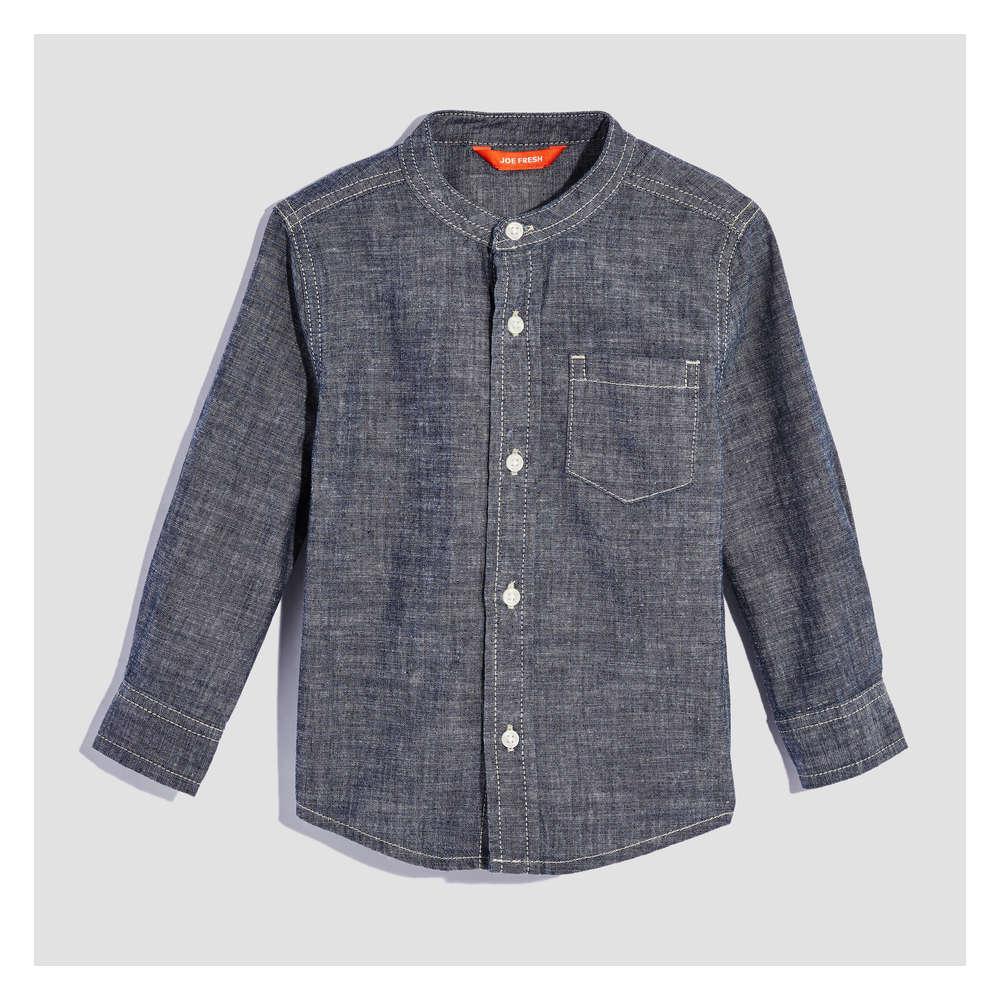 873b13df9 Toddler Boys' Chambray Shirt in Light Wash from Joe Fresh
