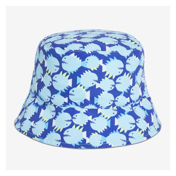 fd9cc358ddd802 Toddler Boys' Reversible Fish Print Swim Hat