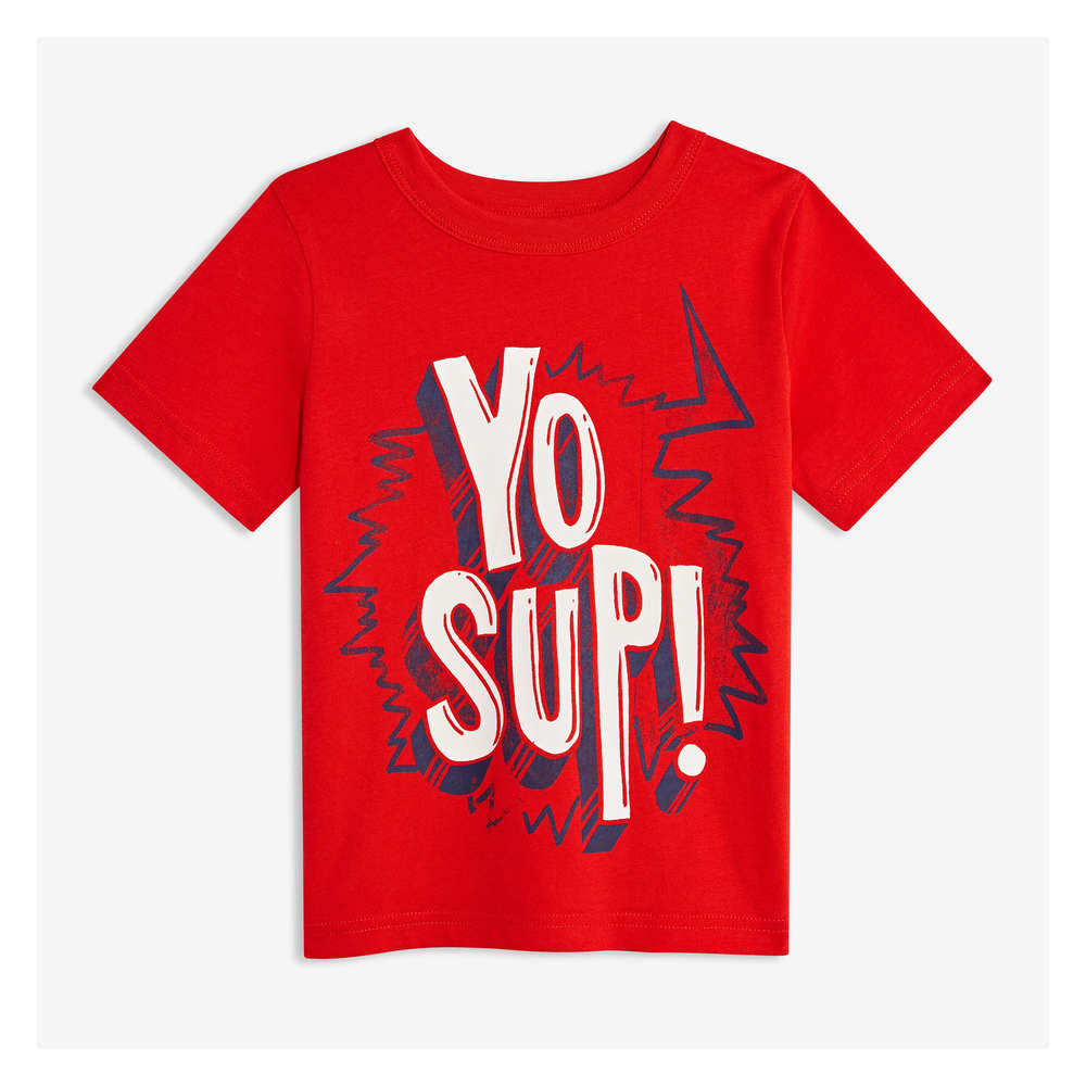 0bbb59e1b Toddler Boys' Graphic Tee in Fire Red from Joe Fresh