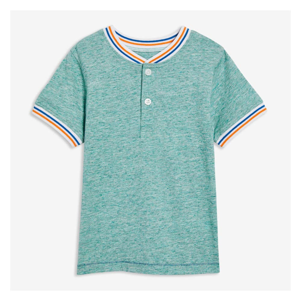 7d67af18a Toddler Boys' Henley Tee in Dark Teal Mix from Joe Fresh