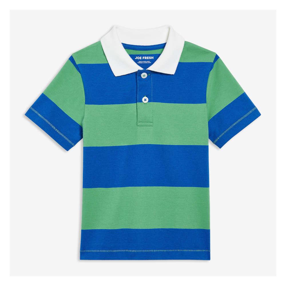 b882dccf54 Toddler Boys' Stripe Polo in Basil Green from Joe Fresh
