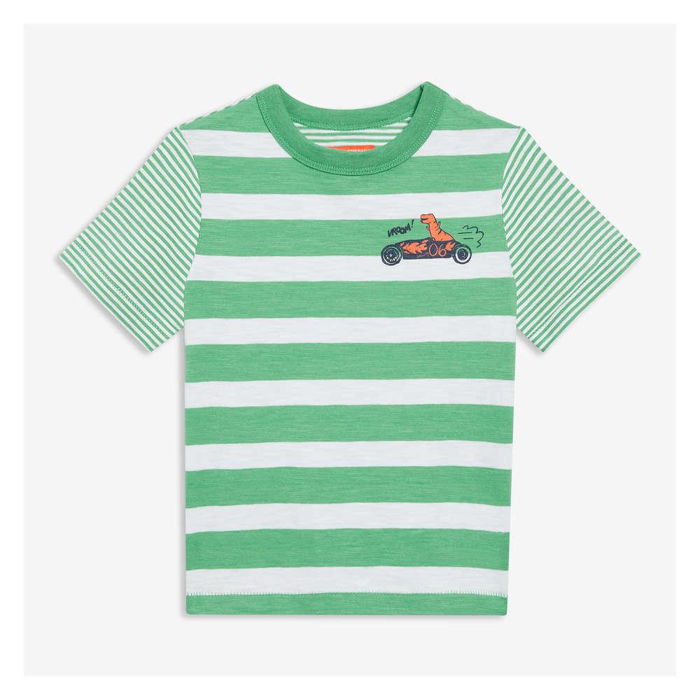 e136549b40 Toddler Boys' Stripe Graphic Tee in Basil Green from Joe Fresh