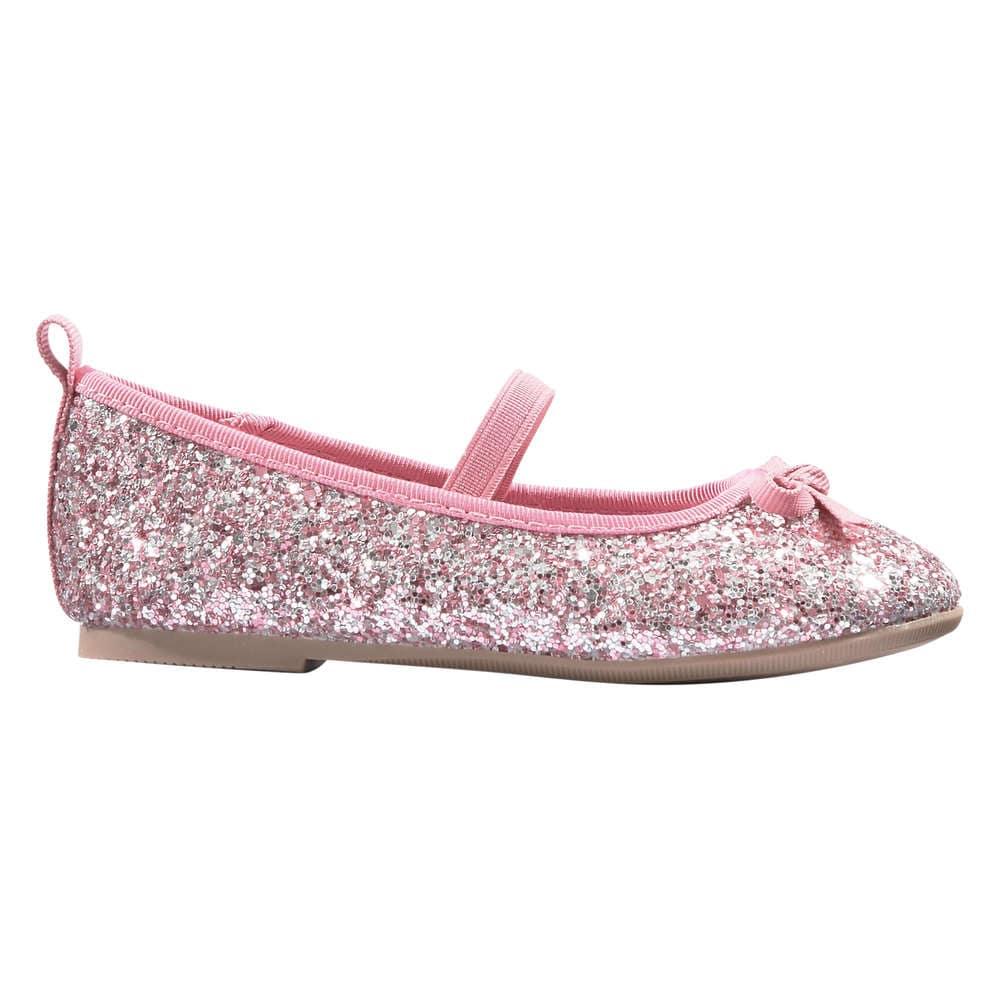 Toddler Girls  Glitter Bow Ballet Flats in Pink from Joe Fresh 3a77d552769f