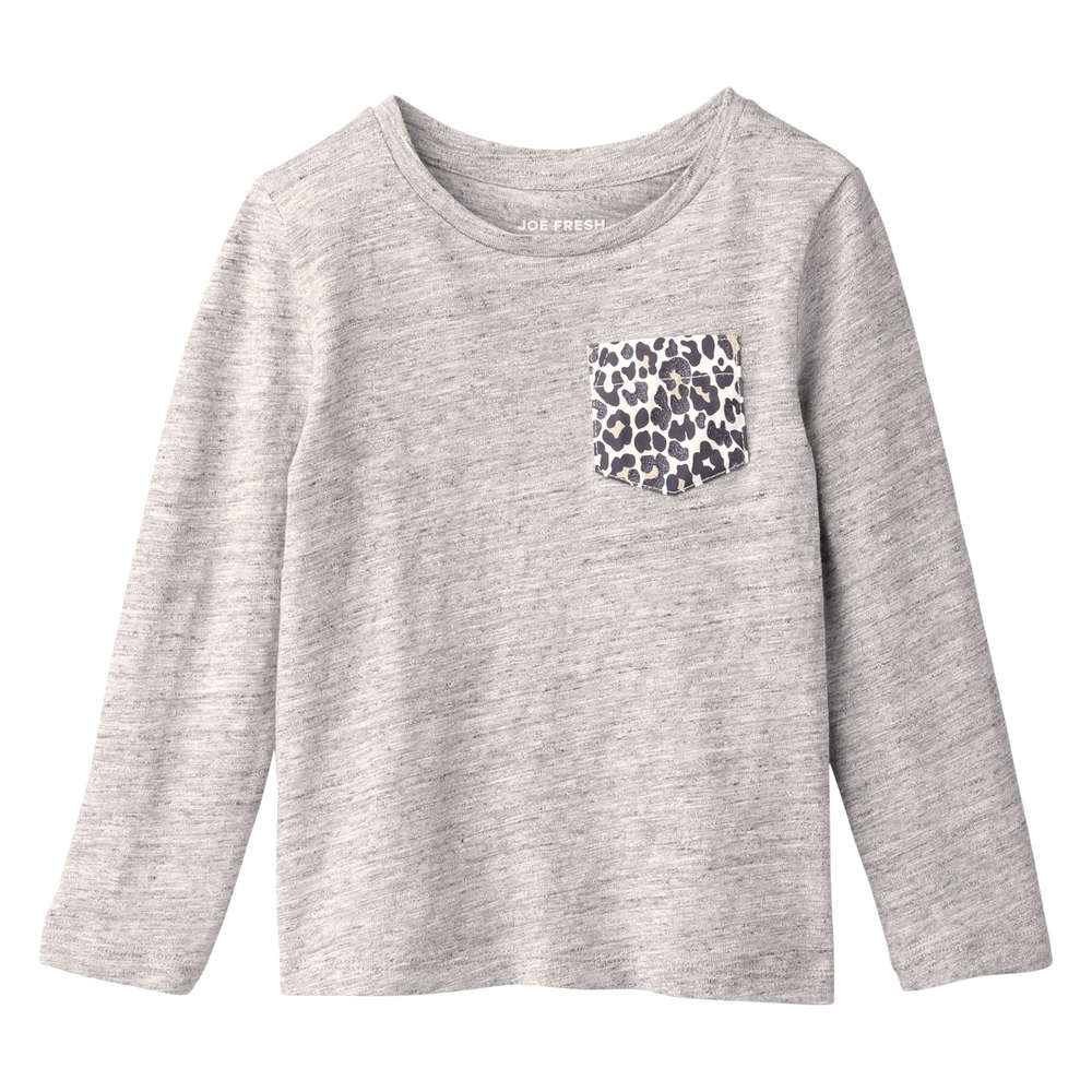240e819680 Joe Fresh Toddler Girls' Glitter Pocket Tee