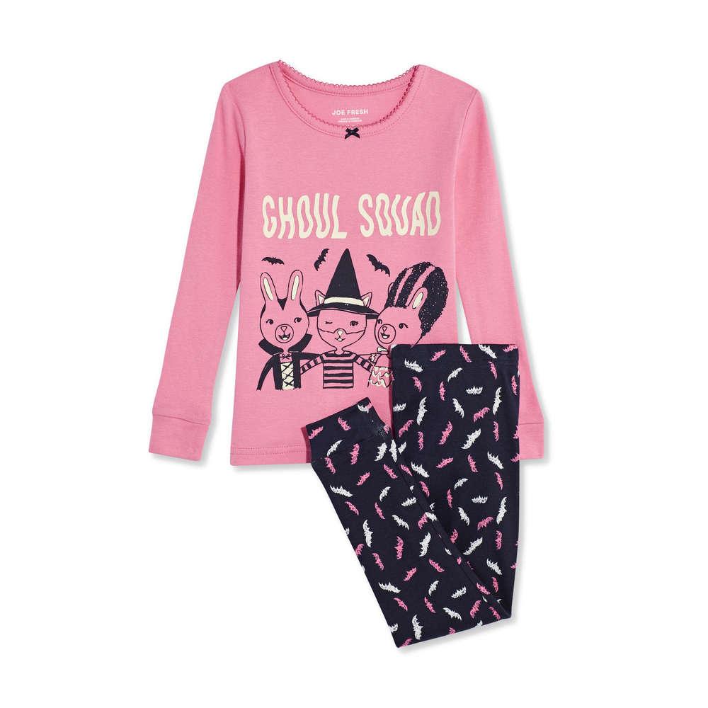396ad1fbf20e5 Toddler Girls' Halloween 2 Piece Sleep Set in Pink from Joe Fresh
