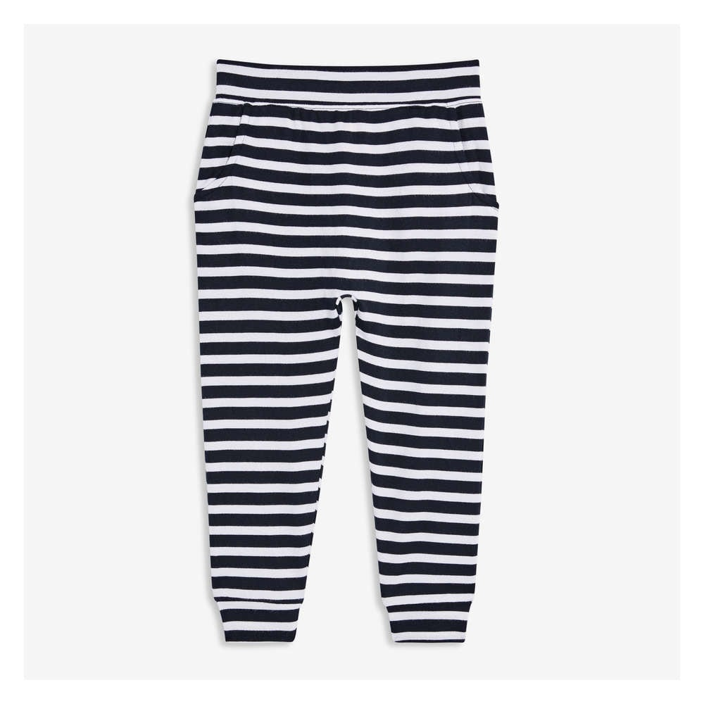 632ed5a19 Toddler Girls' Stripe Soft Pant in JF Midnight Blue from Joe Fresh