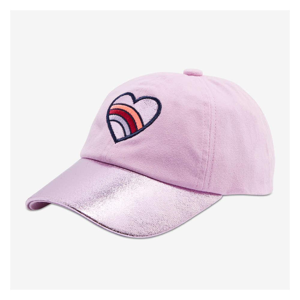60f457fa7c6 Toddler Girls  Heart Baseball Cap in Pink from Joe Fresh