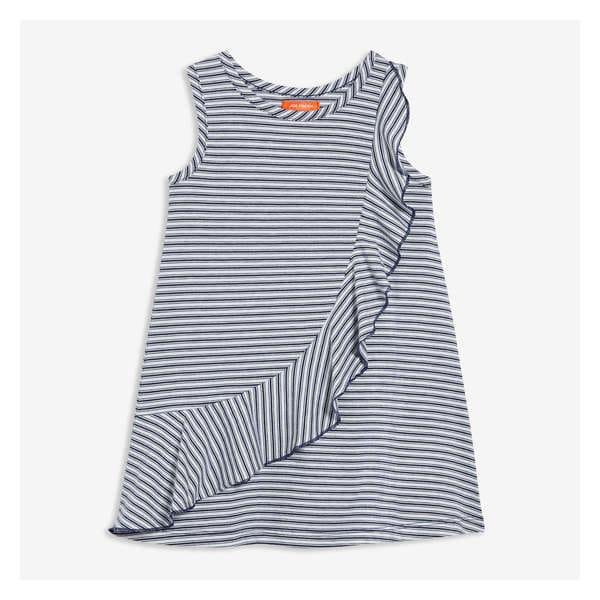 14fdc57f6 Toddler Girls  Stripe Ruffle Dress