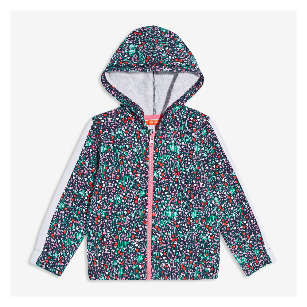a0661d7c0d0ff Toddler Girls  Print Hoodie in JF Midnight Blue from Joe Fresh