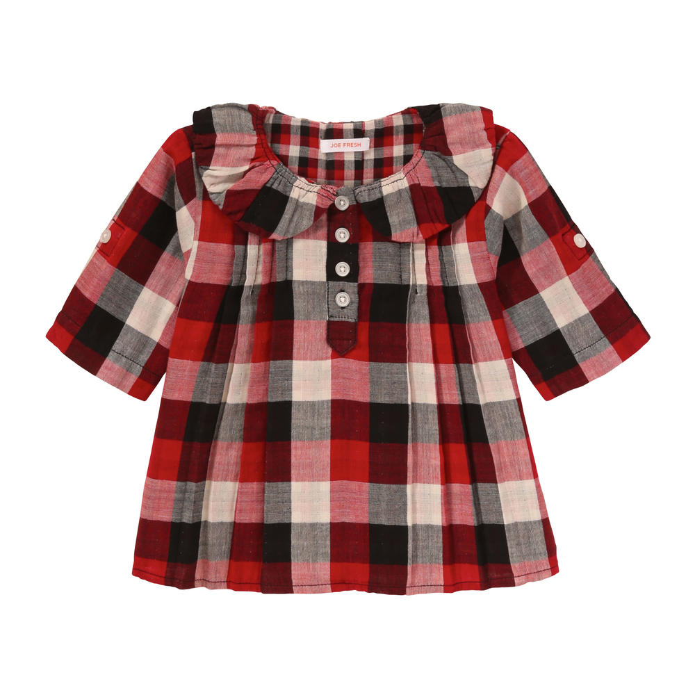 a89c10e77 Toddler Girls' Plaid Double Knit Shirt in Red from Joe Fresh