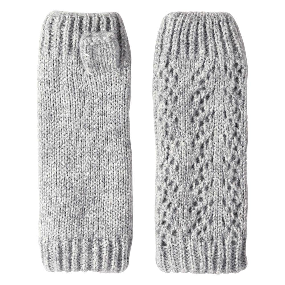 Cable Knit Fingerless Gloves in Grey Mix from Joe Fresh