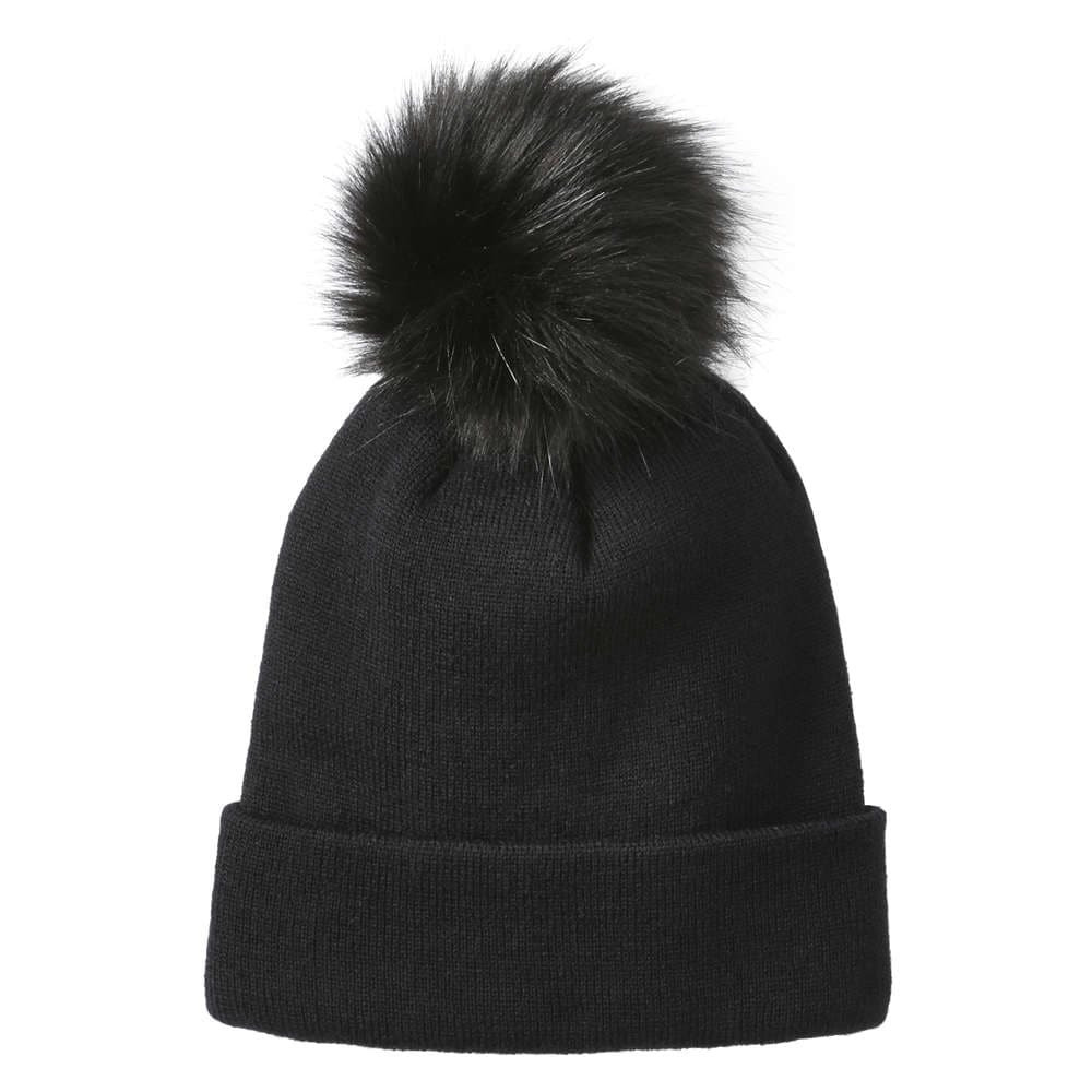 2793cc5a6ce Pompom Knit Hat in Black from Joe Fresh