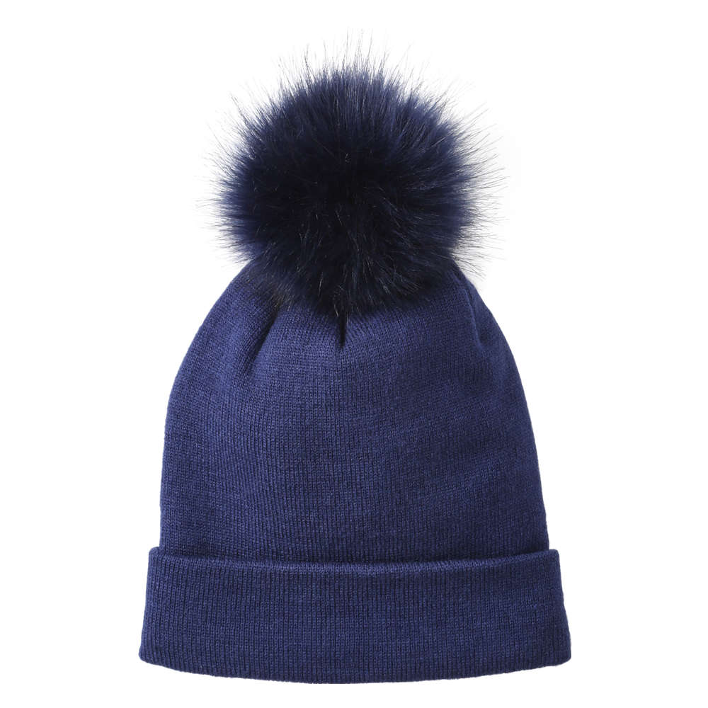 bc2679091cced Pompom Knit Hat in Cobalt from Joe Fresh