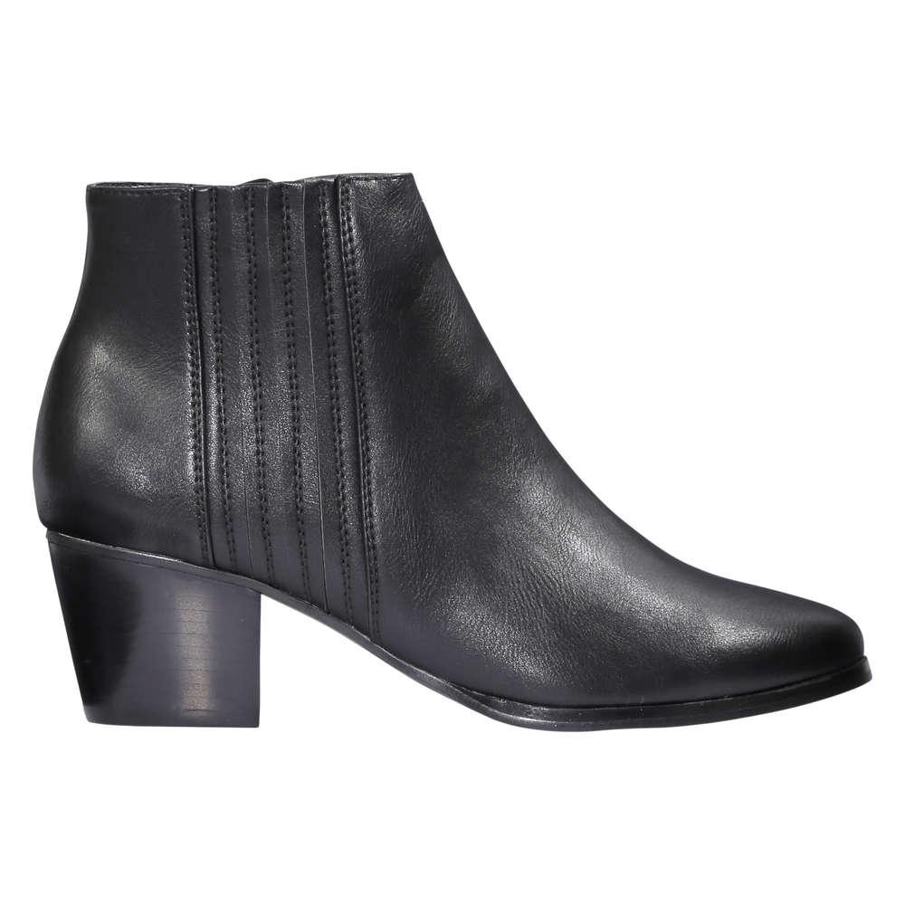 529b5403fa74 Block Heel Ankle Boots in Black from Joe Fresh