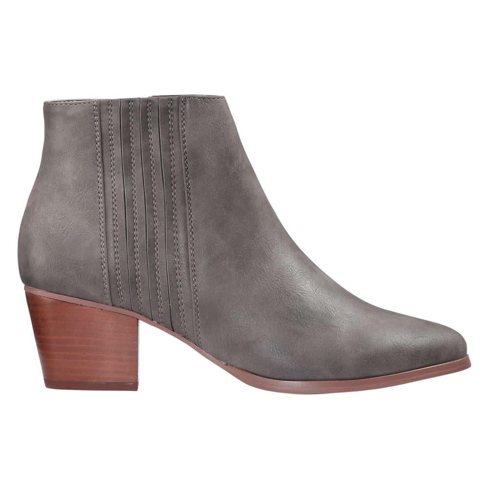 9e1eb2696225 Block Heel Ankle Boots in Dark Grey from Joe Fresh