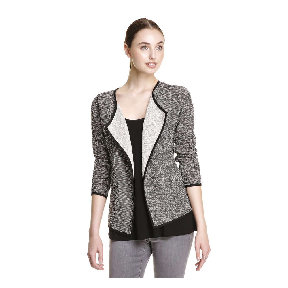 Draped Blazer in Charcoal from Joe Fresh