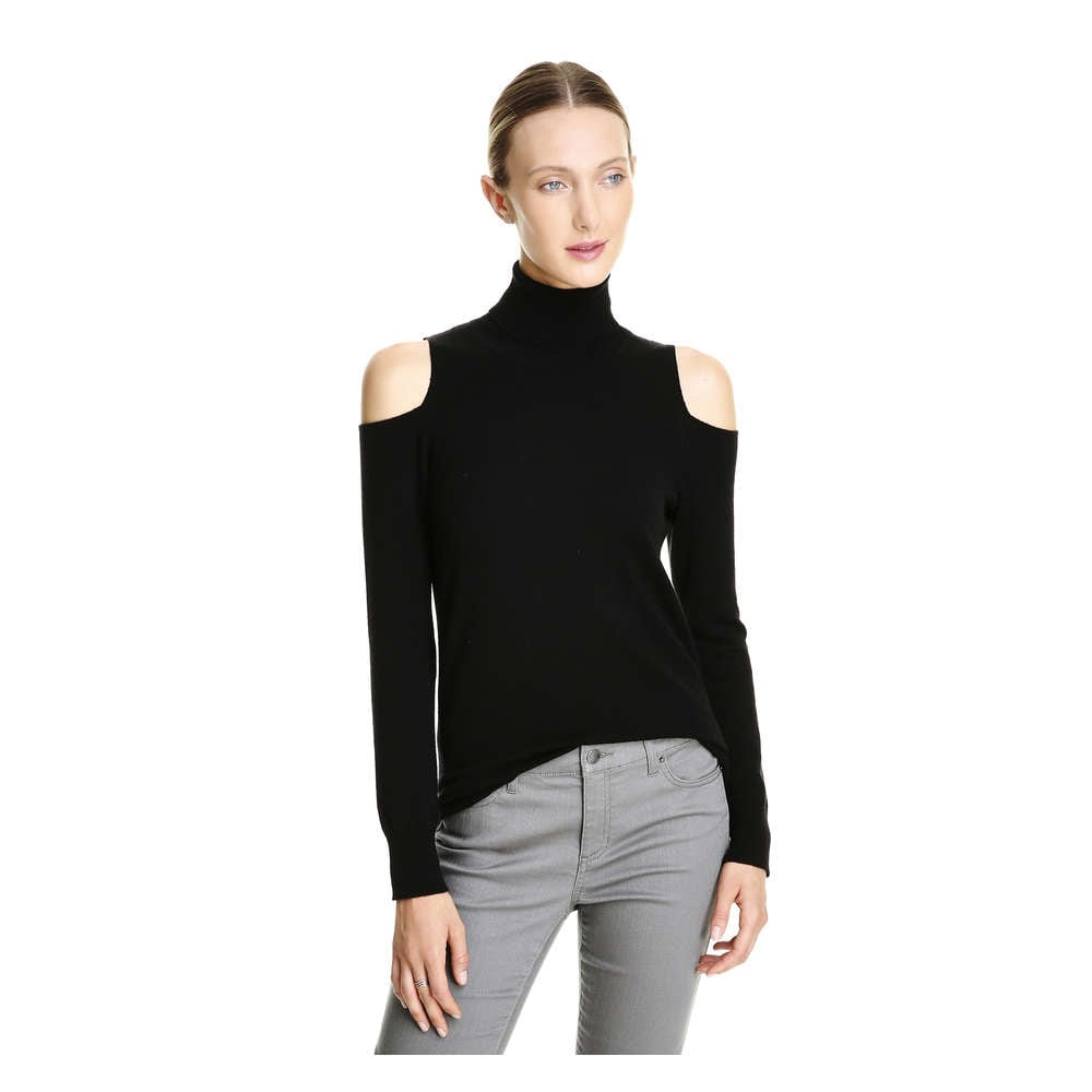 989dcb84b5f3b1 Cold Shoulder Turtleneck Sweater in JF Black from Joe Fresh