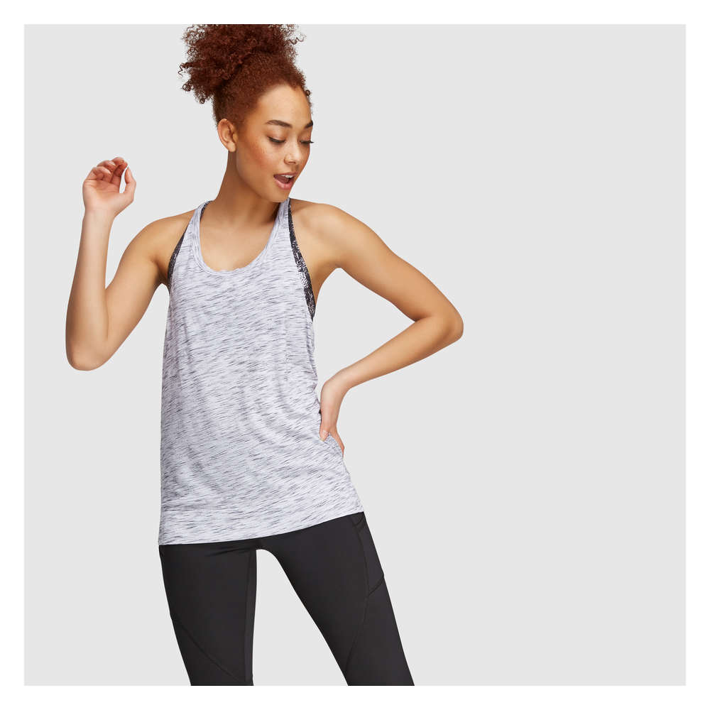 cee892cda Active Tank with Built-In Sports Bra in White from Joe Fresh