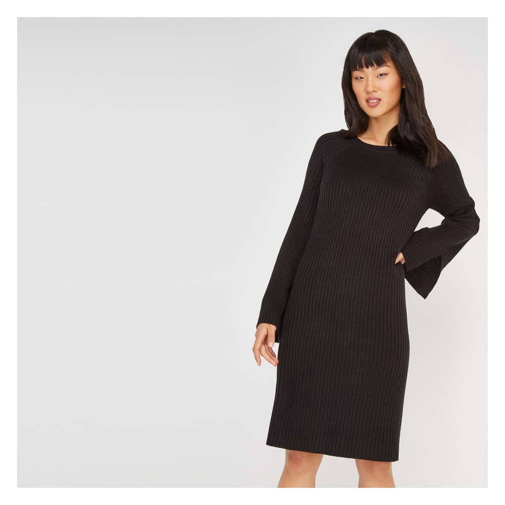 Online Exclusive Ribbed Sweater Dress