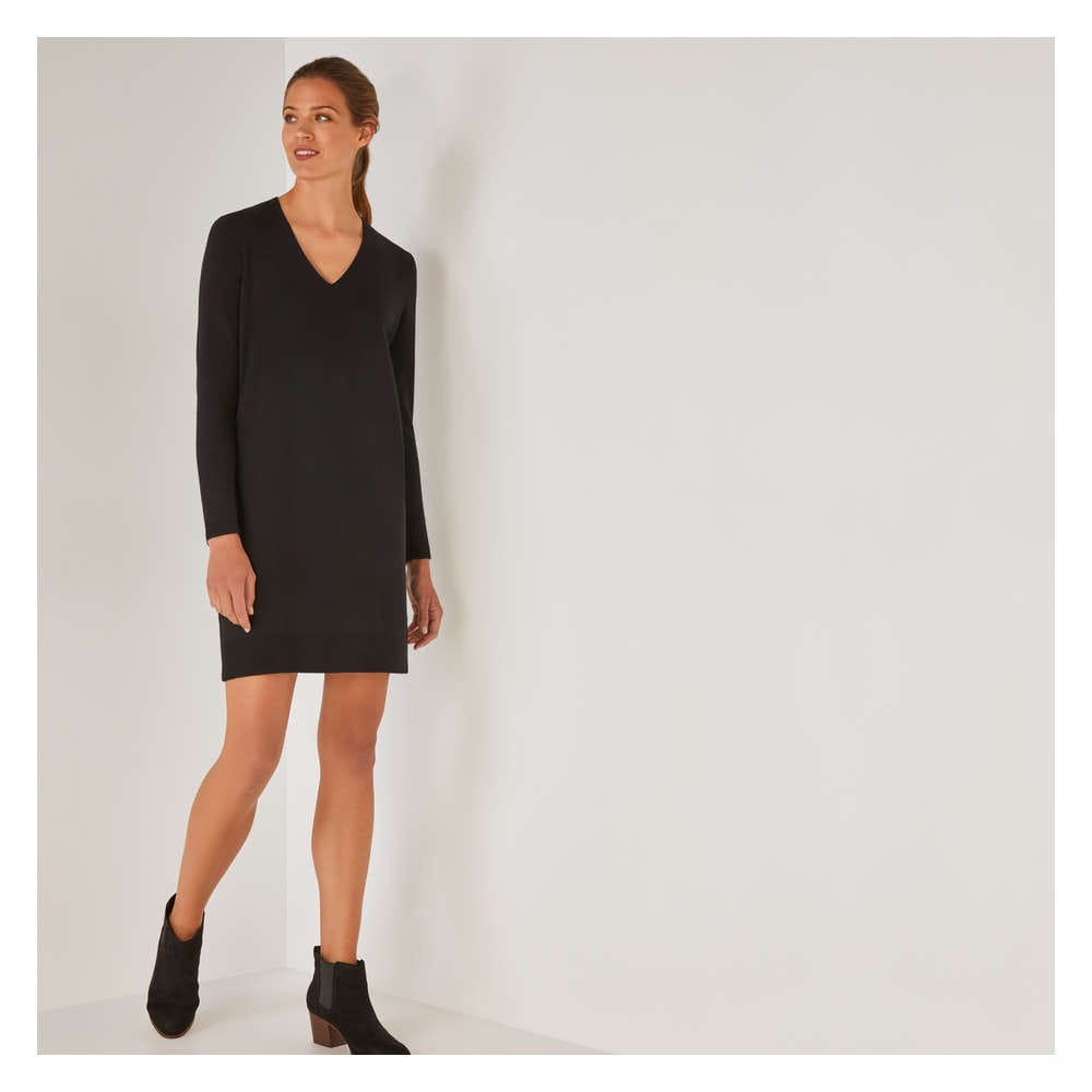 Clearance 50 Off V Neck Sweater Dress