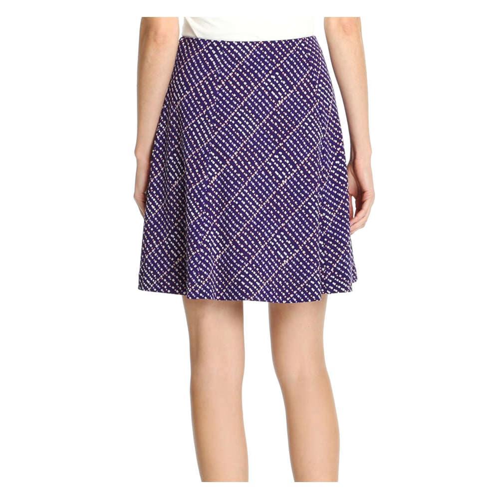 4cdc4026b1a Ponte Flare Skirt in Dark Purple from Joe Fresh