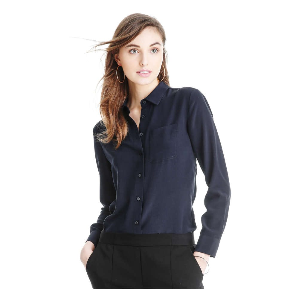 2c73967c5ddbd Silk Blouse in JF Midnight Blue from Joe Fresh