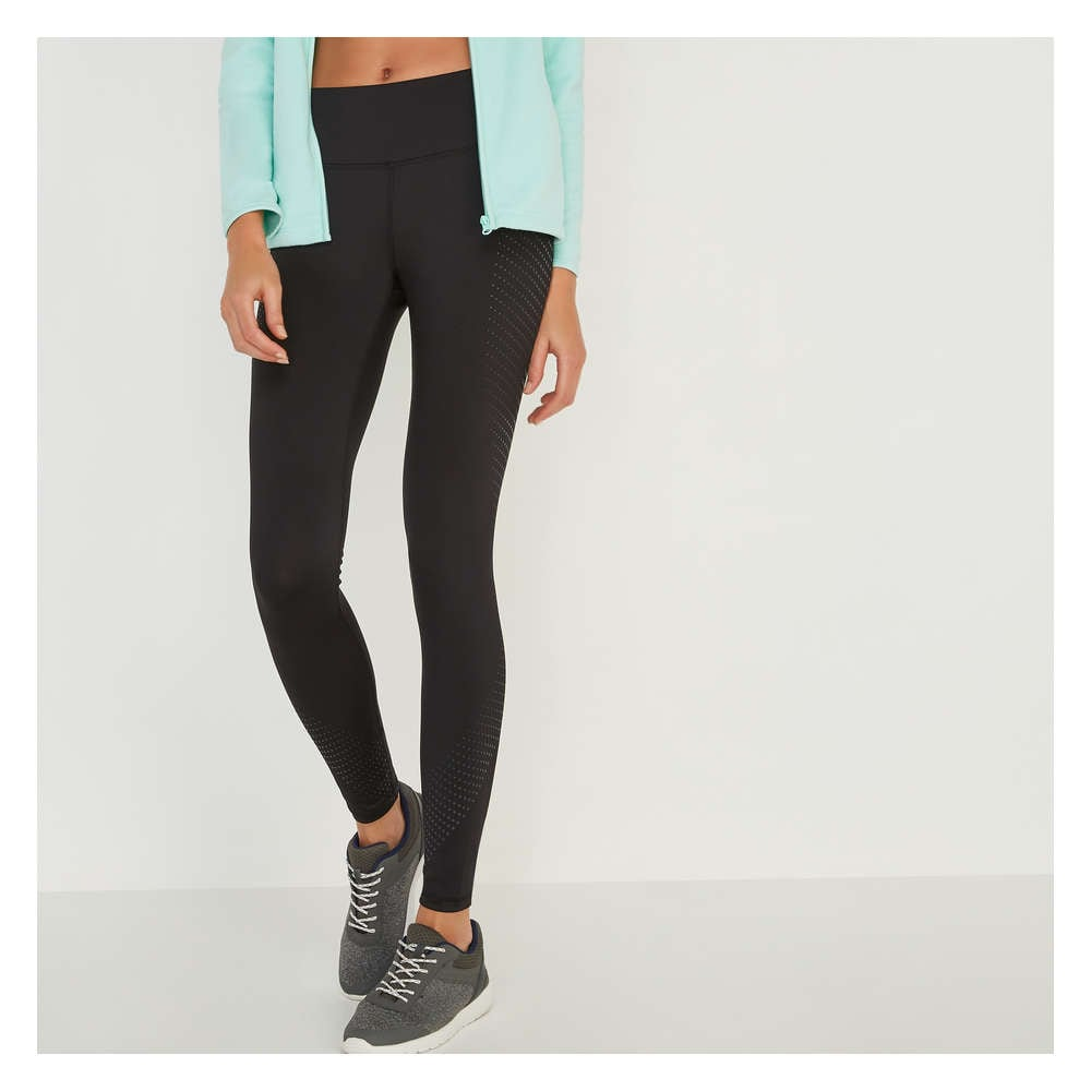 250905d002061 Print Mid-Rise Legging in JF Black from Joe Fresh