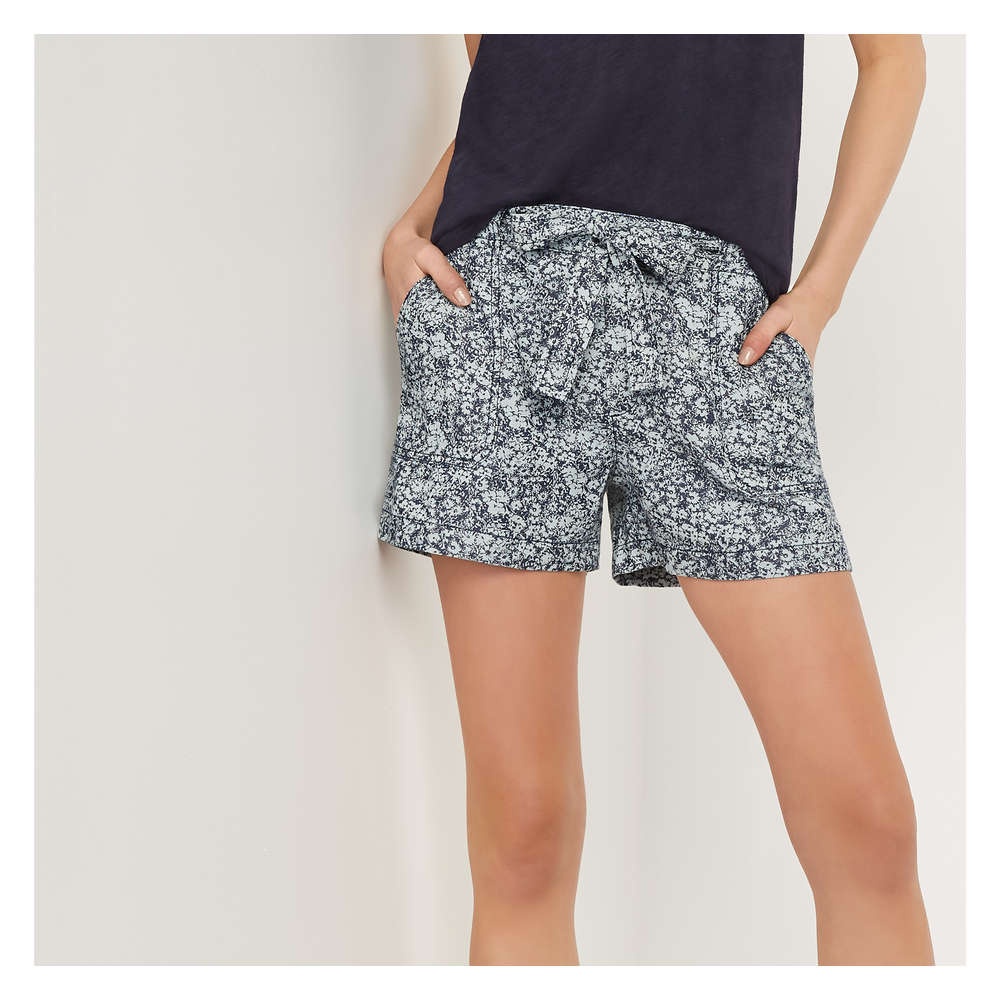 c76dfcefeb Print Soft Denim Shorts in Dark Wash from Joe Fresh