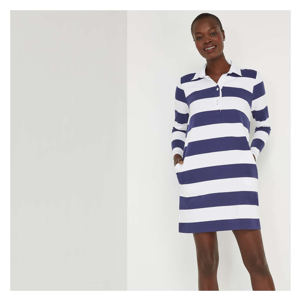 1259e93d147 Rugby Dress in Dark Blue from Joe Fresh