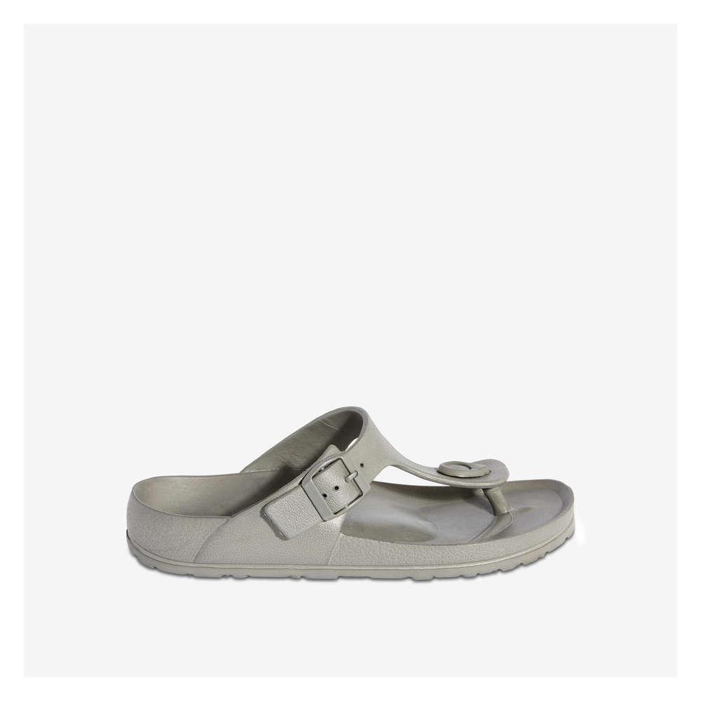cf3747bcdfa3 Footbed Thong Sandal in Pewter Grey from Joe Fresh