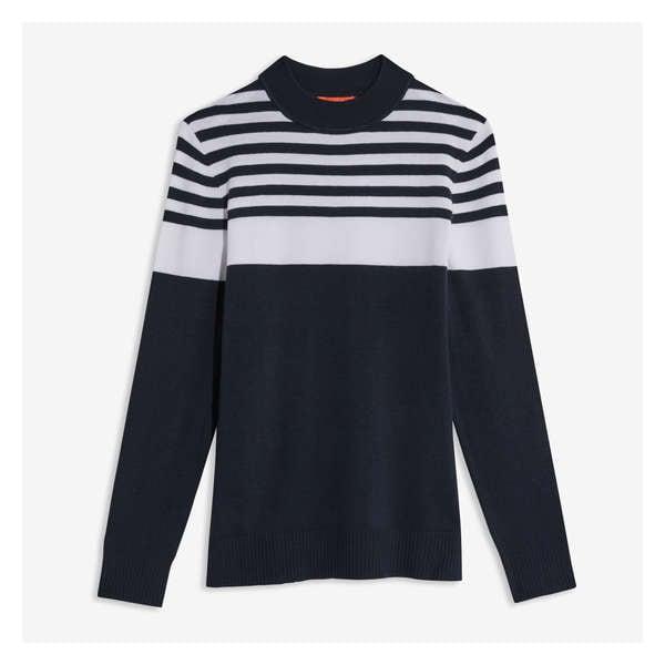 559c9eaa7251 Mock Neck Stripe Pullover