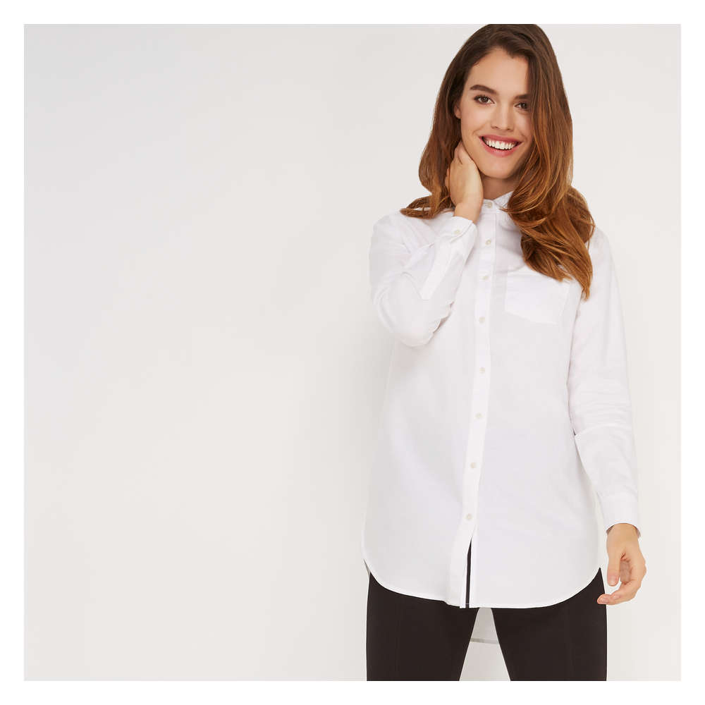 3af495d27a5 Oxford Tunic Shirt in White from Joe Fresh