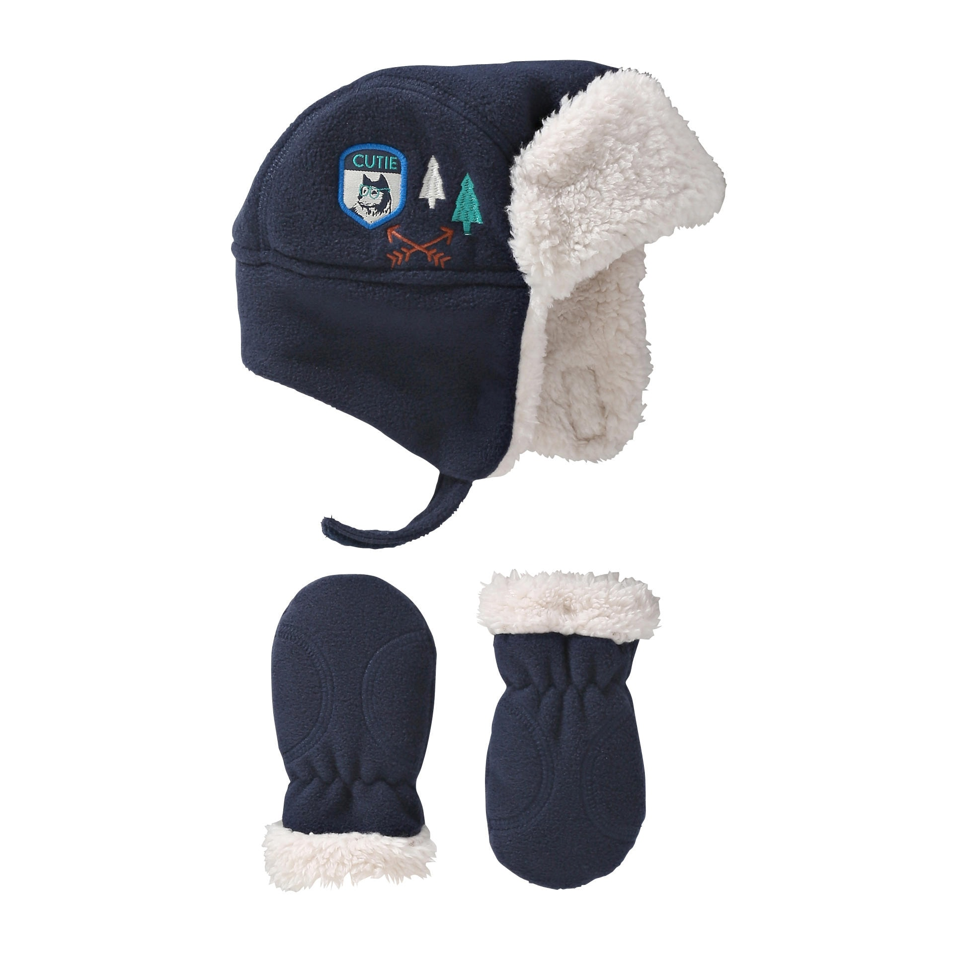 Baby Boys  Hat and Mittens Set in Navy from Joe Fresh 8fe34596f47