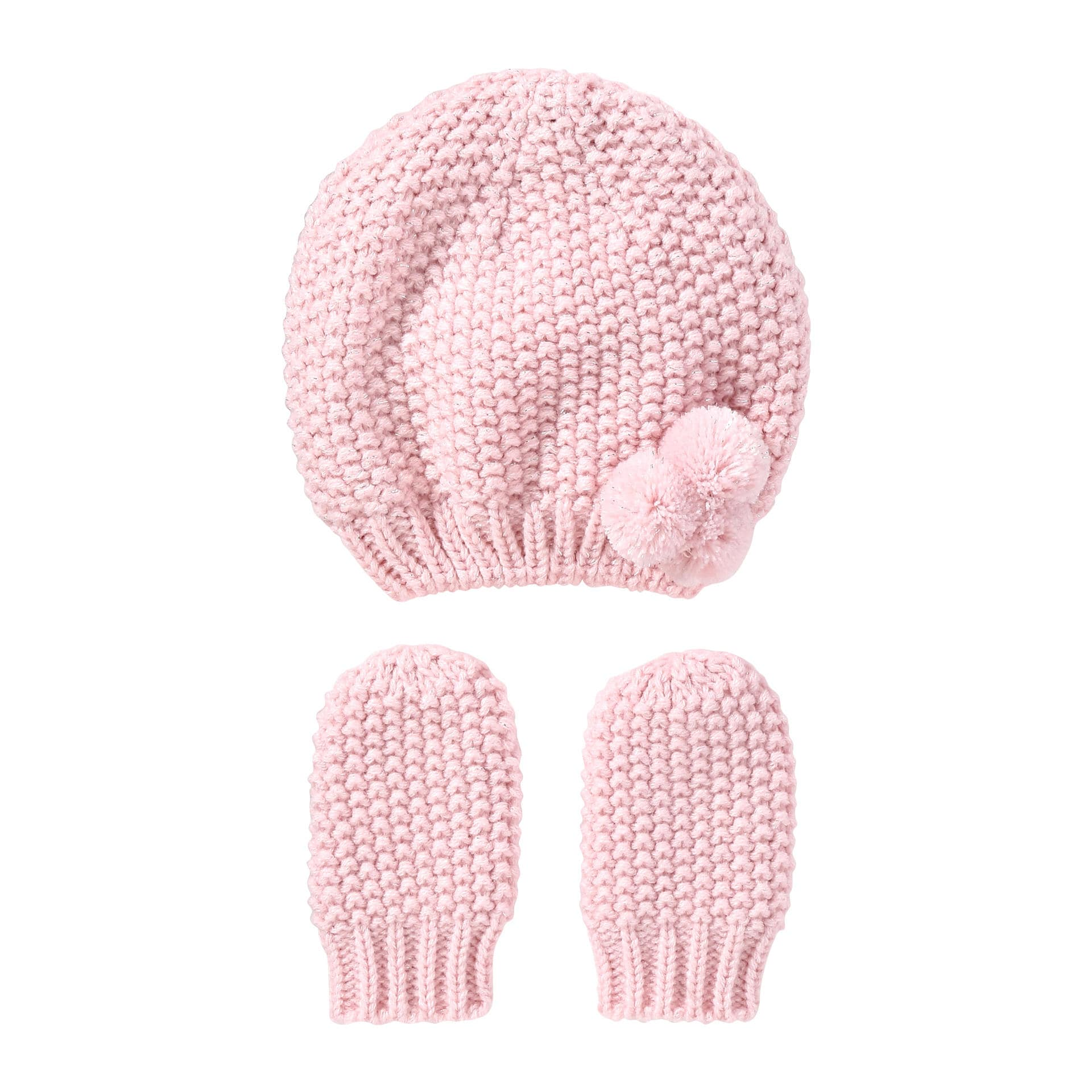049dc31daa3 Baby Girls  Hat and Mittens Set in Pink from Joe Fresh