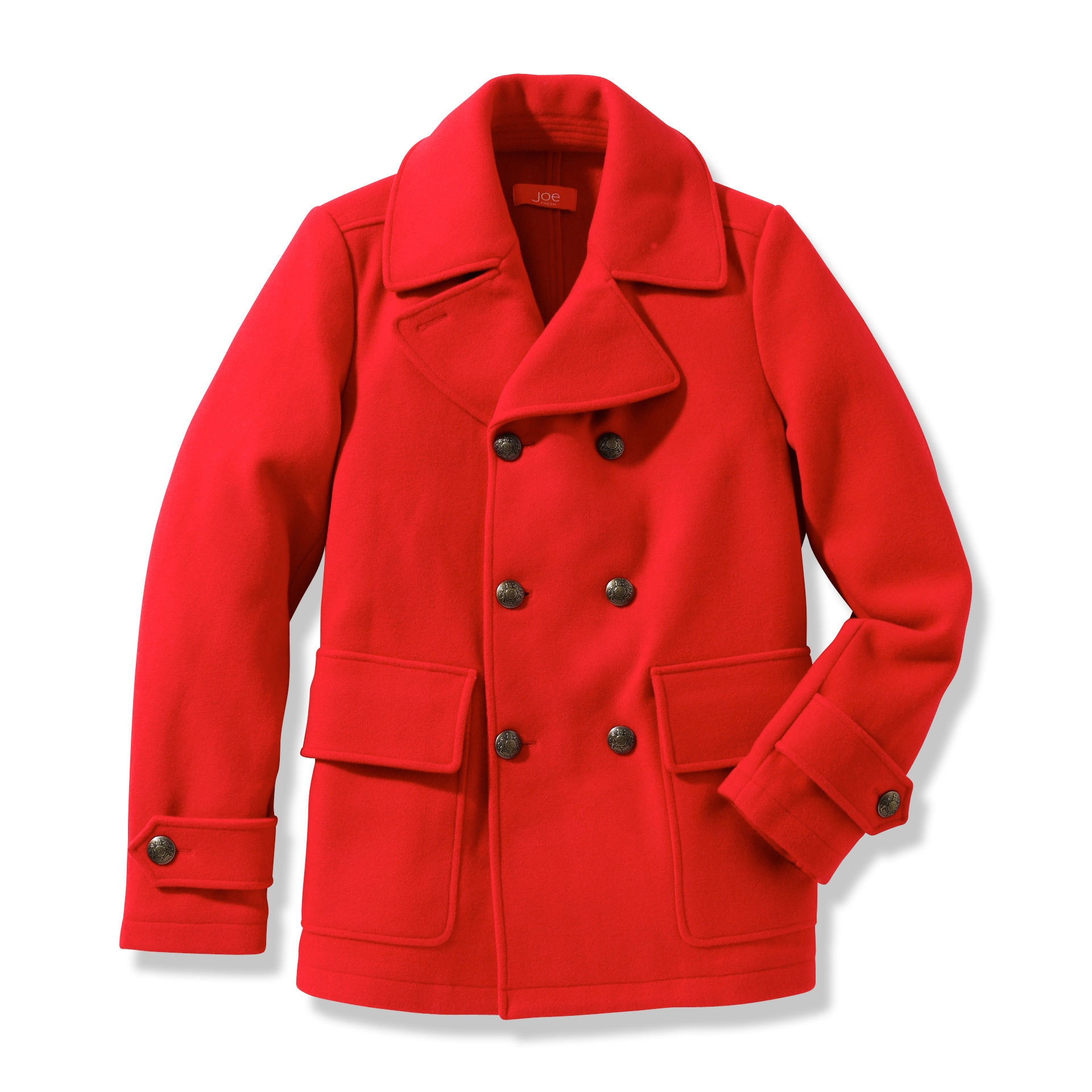 Red Mens Pea Coat - Tradingbasis