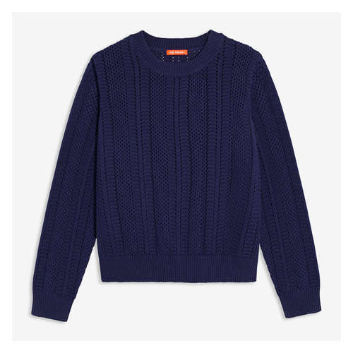 a772e0b1792 Women+ Open Stitch Sweater in Dark Blue from Joe Fresh