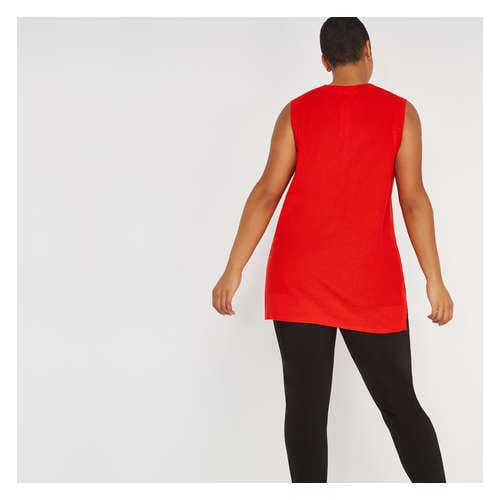 edf2cc22337 Women+ Sleeveless Tunic Sweater in Fire Red from Joe Fresh
