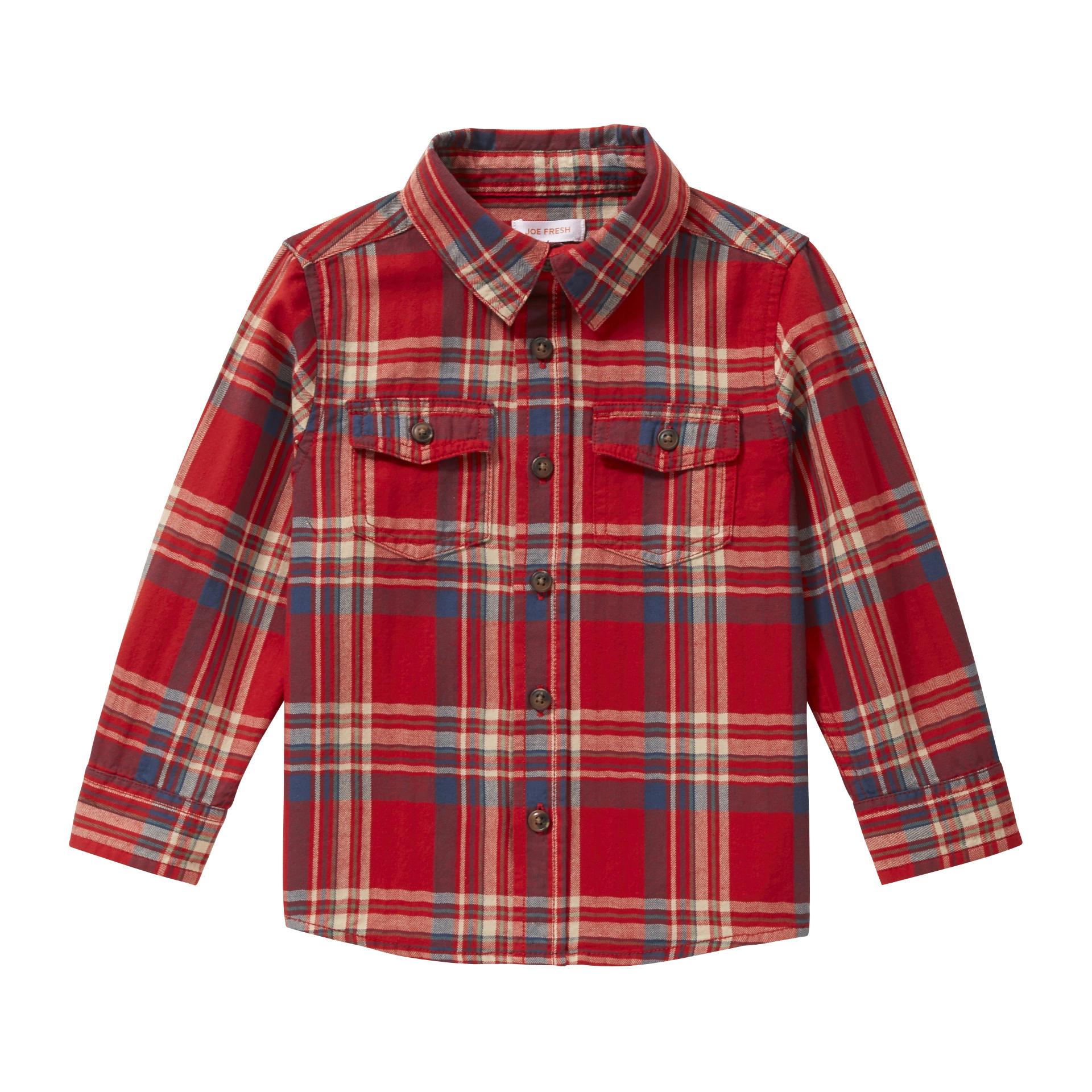 28e632bb Toddler Boy Red Flannel Shirt