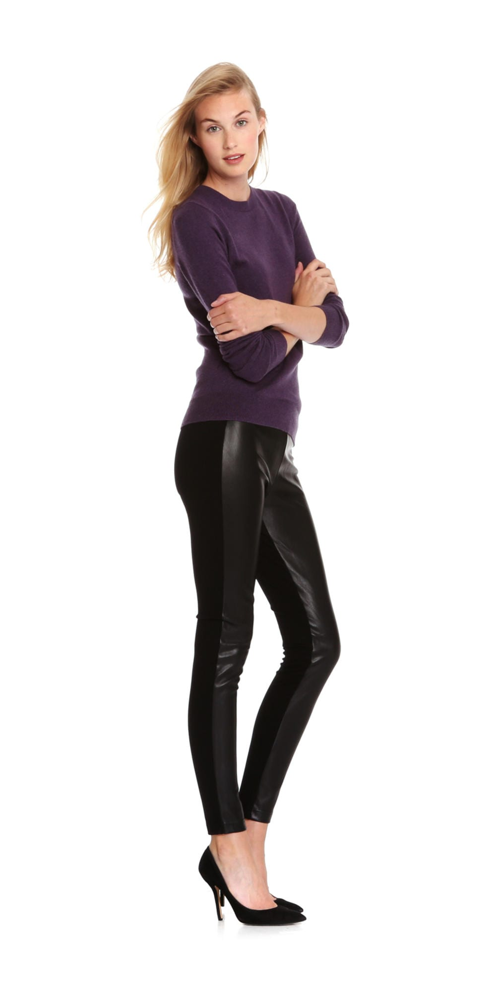 cb6c6fa9938 Faux Leather Legging in Black from Joe Fresh
