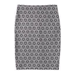 Print Ponte Pencil Skirt